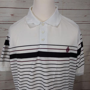 Swiss Cross Mens Pure White/Black Polo/Golf Shirt